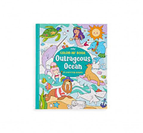 Ooly 31 Pages Outrageous Ocean Colouring Book- Multicolour Books for Kids age 3Y+