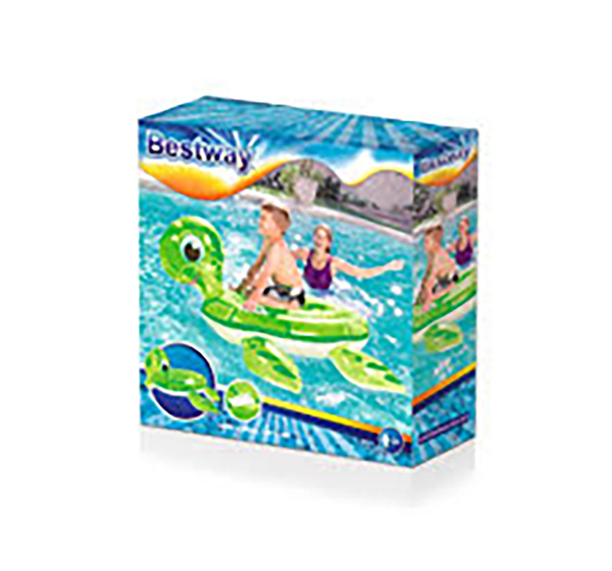 Bestway Turtle Rider - 55 X 55 Inches Outdoor Leisure for Kids age 3Y+ (Green)