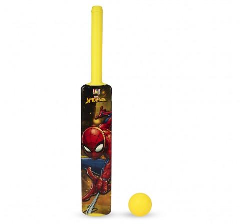 IToys Marvel Spiderman Bat & ball set for kids (Size.3), Unisex, 3Y+(Multicolour)