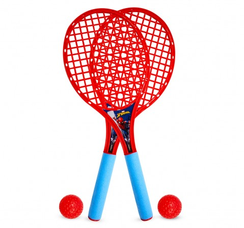 IToys Marvel Spiderman My first Beach racket set for kids, Unisex, 3Y+(Multicolour)