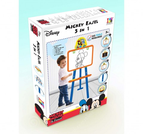 I Toys Mickey Mouse 5 In 1 Easel Board Activity Table & Boards for Kids age 5Y+