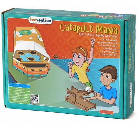 Funvention Catapult Mania Stem for Kids Age 5Y+