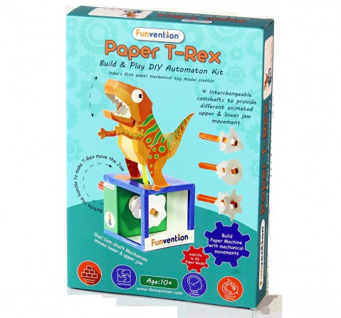Funvention Paper T-Rex Automaton Stem for Kids Age 10Y+