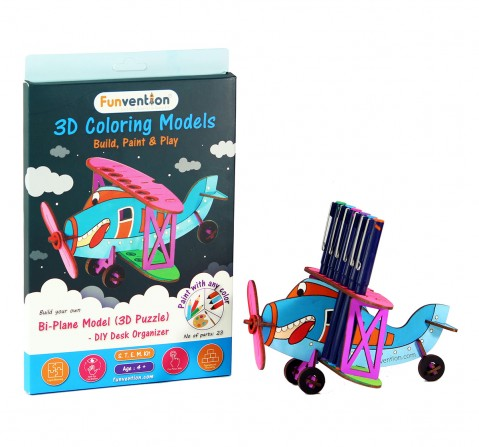 Funvention 3D Coloring Model - Bi-Plane Stem for Kids Age 5Y+