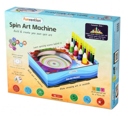 Funvention Spin Art Machine Stem for Kids Age 8Y+