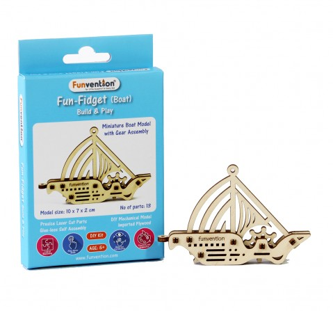 Funvention Fun Fidgets - Ships - Boat Model Stem for Kids Age 5Y+