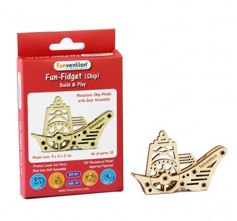 Funvention Fun Fidgets - Ships - Ship Model Stem for Kids Age 5Y+