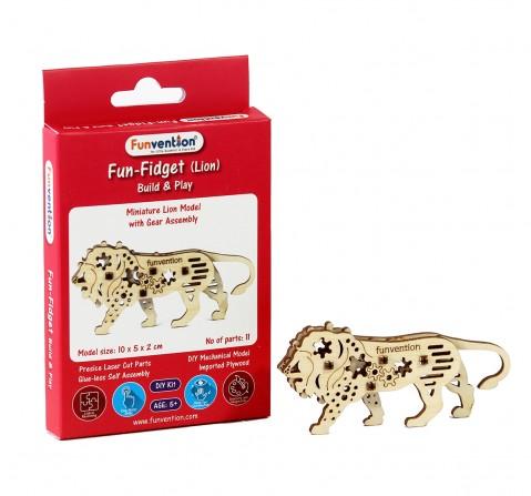 Funvention Fun Fidgets - Jungle - Lion Model Stem for Kids Age 5Y+
