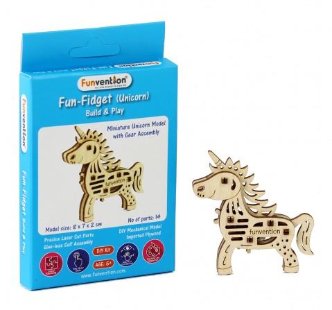 Funvention Fun Fidgets - Jungle - Unicorn Model Stem for Kids Age 5Y+