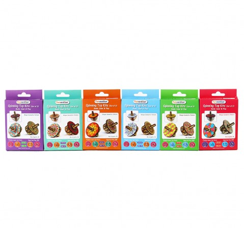 Funvention Spinning Tops (Set Of 2) - Pack Of 12 Stem for Kids Age 3Y+
