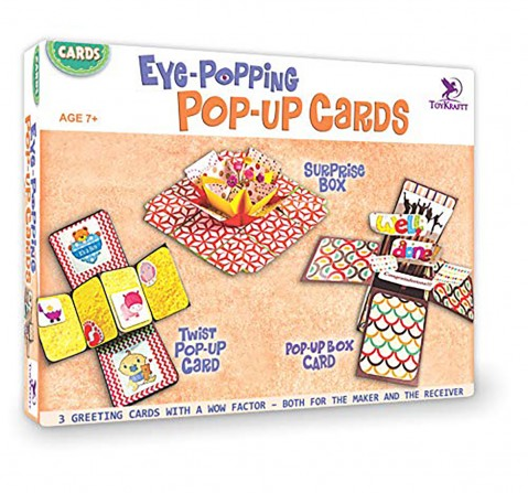 Toykraft Eye Popping Pop Up Cards DIY Art & Craft Kits for Kids age 7Y+