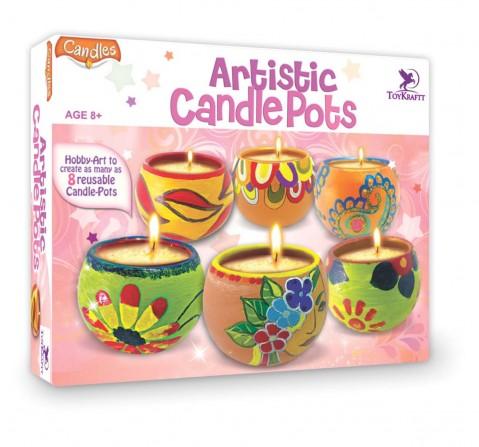 Toy Kraft Artistic Candle Pots, Multicolor, 8Y+