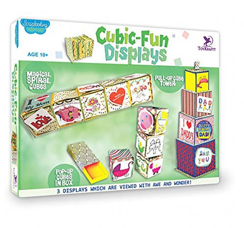 Toykrafft Cubic-Fun Displays DIY Art & Craft Kits for Kids age 10Y+