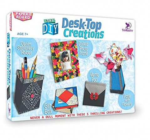 Toykraftt Diy Desk-Top Creations DIY Art & Craft Kits for Kids age 7Y+