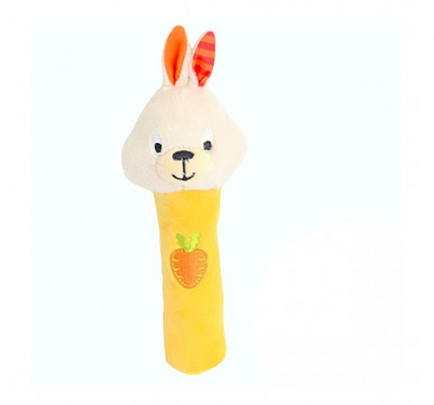 Winfun bouncy bunny rattle stick New Born for Kids age 0M+