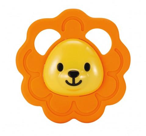 Winfun safari fun teether lion New Born for Kids age 0M+ (Orange )