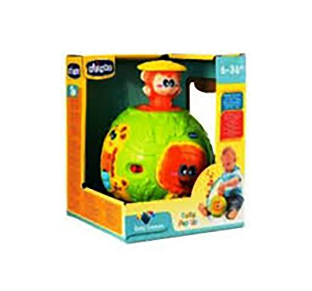Chicco Palla Pop Up Activity Toy with Light & Sound for Kids age 6M+