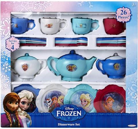 Disney Frozen Dinnerware Set - 26Pcs Dolls & Accessories for Girls age 3Y+