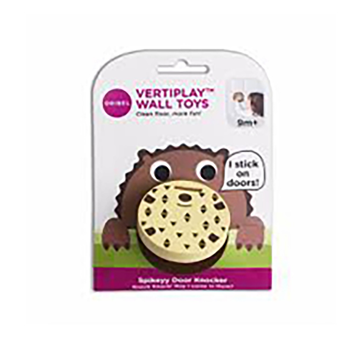 Vertiplay Wall Toy: Spikeyy Door Knocker Activity Toys for Kids age 9M+
