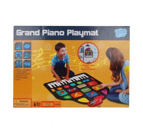 Zippy Mat Sunlin Wall Grand Piano Playmat for Kids age 3Y+ (Black)