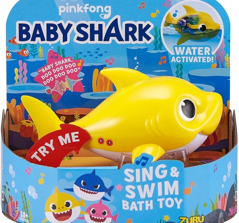 Robo Alive Junior Baby Shark Battery-Powered Sing And Swim Bath Toys & Accessories for Kids age 18M +