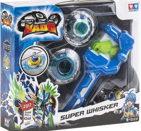 Infinity Nado Super Whisker Spinning Top With Launcher, 12 Pieces Action Figure Play Sets for Kids age 5Y+