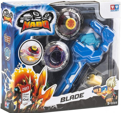 Infinity Nado Fiery Blade Spinning Top With Launcher, 12 Pieces Action Figure Play Sets for Kids age 5Y+