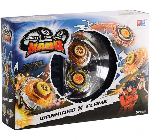 Infinity Nado Warriors X Flame, 12 Pieces Action Figure Play Sets for Kids age 5Y+