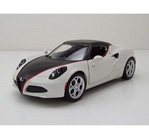 Motormax Satin Paint 1:24 - White Vehicles for Kids age 3Y+ (White)