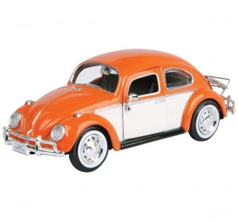 Motormax Volkswagen Beetle With Rear Mirror- Orange Vehicles for Kids age 14Y+ (Orange)