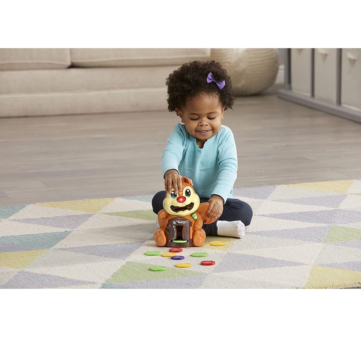 Leap Frog  Number Crunchin Squirrel Learning Toys for Kids age 2Y+ (Brown)