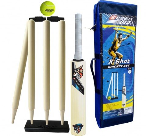 Speed Up Wooden Cricket Set for Kids age 5Y+