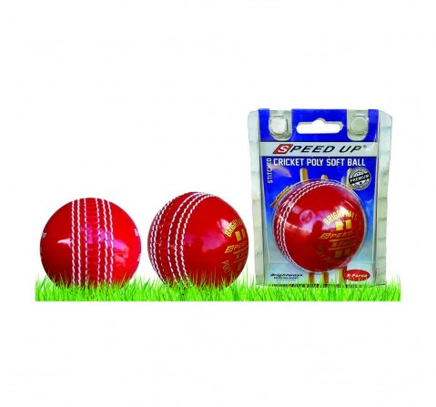 Speed Up Poly Soft Cricket Ball for Kids age 10Y+ (Red)