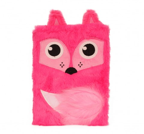 Mirada  Whimsical Plush Fox Notebook - Study & Desk Accessories for Kids age 3Y+ (Pink)