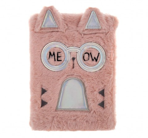 Mirada Fancy Cat Plush Notebook Study & Desk Accessories for Girls age 3Y+ (Pink)