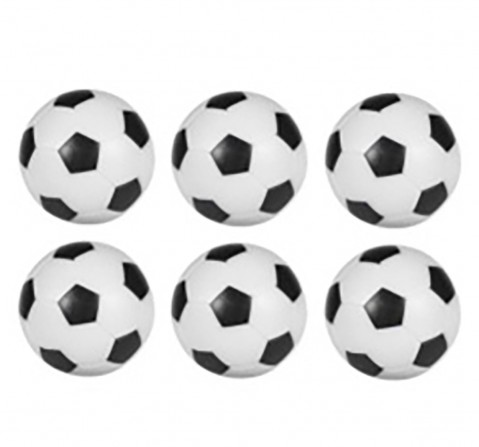 Carromco Foosball 28mm Balls Pack of 6 for Kids age 3Y+ (White)