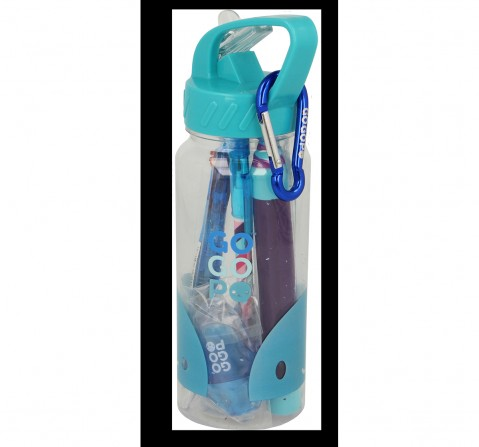Gogopo Blue Sports Bottle Bundle School Stationery for Kids age 3Y+ (Blue)