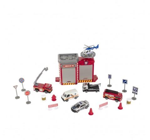 "Teamsterz 3"" Die Cast Emergency Station Play Set Vehicles for Kids Age 3Y+"