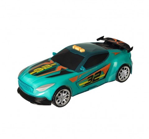 Teamsterz Light And Sound Street Starz Green Blue Car Vehicles for Kids age 3Y+
