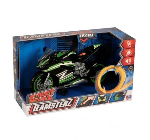 Teamsterz Light And Sound Black Motorbike Vehicles for Kids age 3Y+