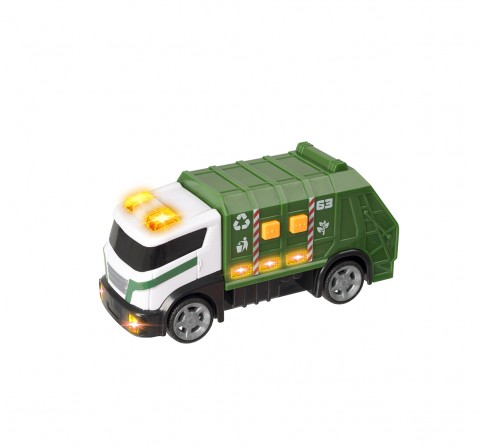 Teamsterz Light And Sound Garbage Truck Small Vehicles for Kids age 3Y+