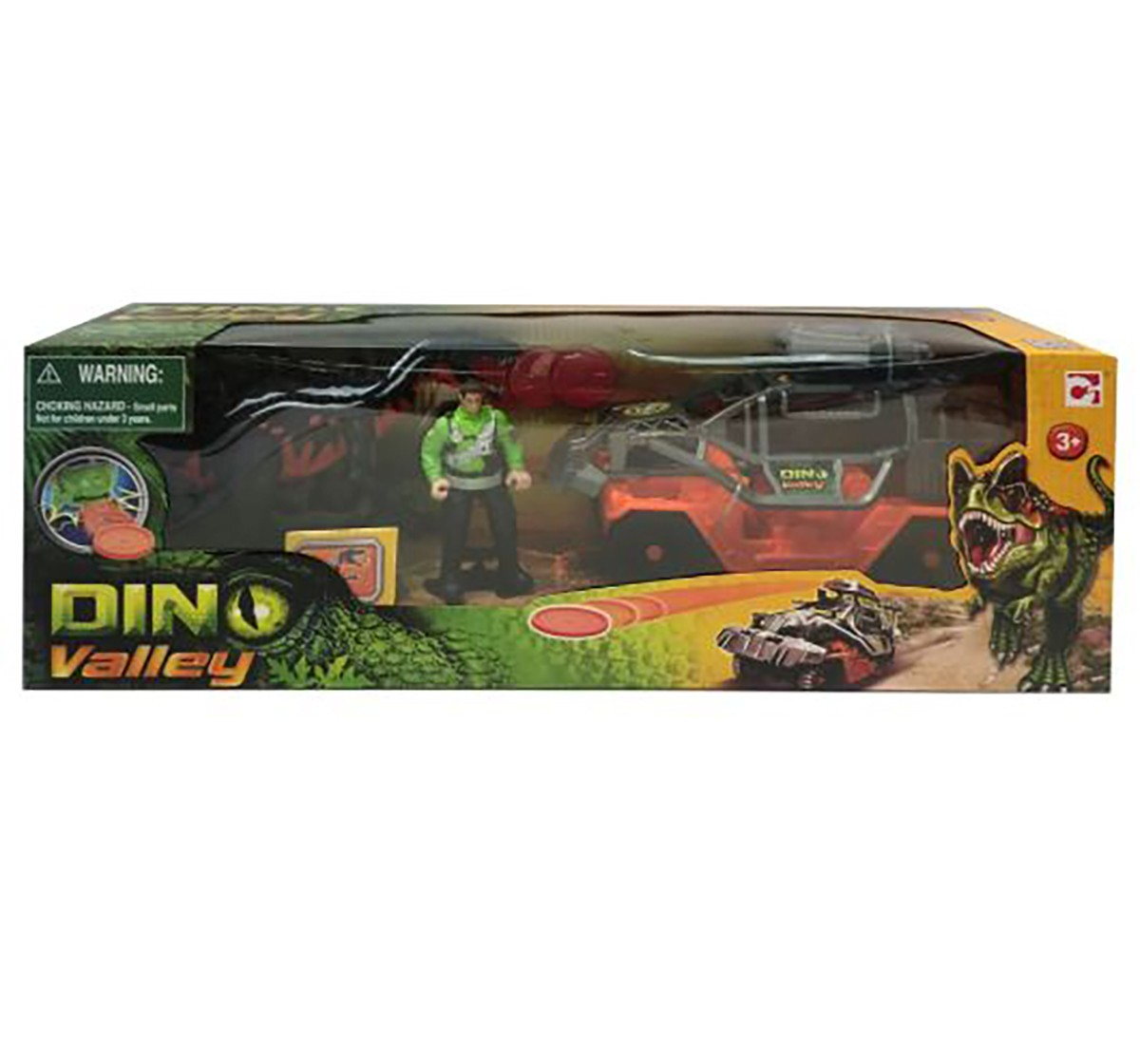 Hamleys Dino Valley Dinosaur Catch Vehicle Playset Action Figure Play Sets for Kids age 3Y+