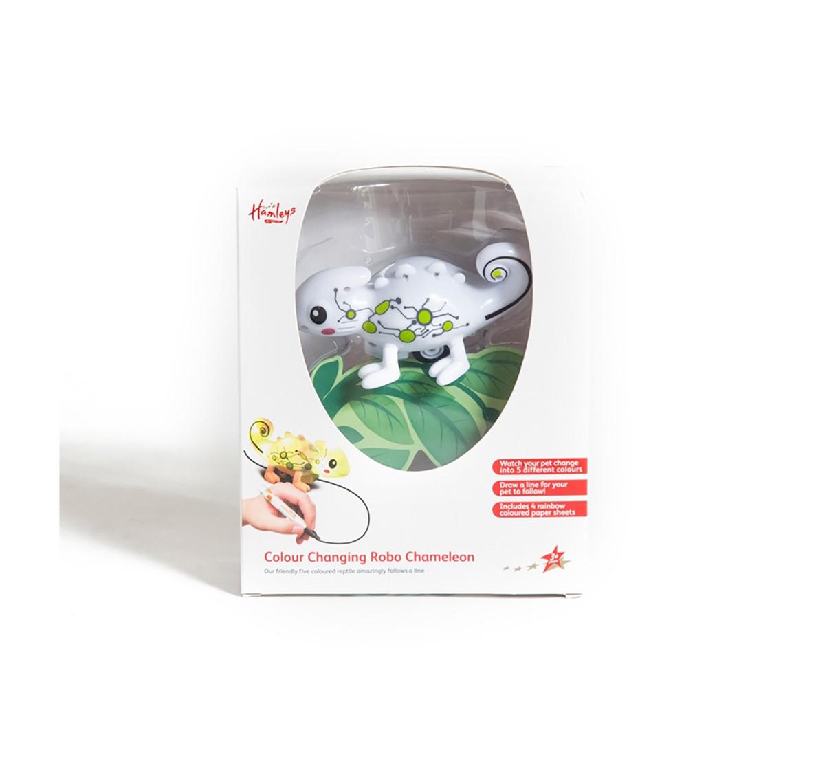 Hamleys Colour Change Chameleon Robotics for Kids age 3Y+ (White)