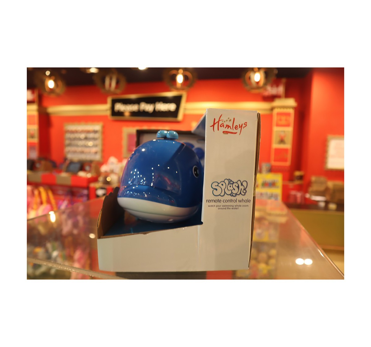 Hamleys Remote Control Whale Splash Bath Toys & Accessories for Kids age 3Y+ (Blue)