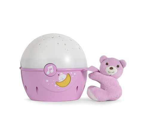 Chicco First Dreams Next 2 Stars Cot Projector with Music for New Born Girls age 0M+ (Pink)