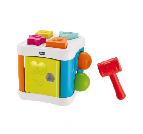 Chicco 2 IN 1 Sort & Beat Activity Cube for Kids age 10M+