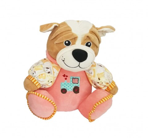 My Baby Excel Dog with Embroidered Sweater Soft Toy for Kids age 1Y+ - 32 Cm (Pink)