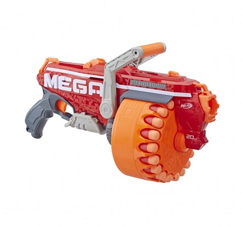 Nerf Megalodon N-Strike Mega Toy Blaster With 20 Official Mega Whistler Darts Blasters for Kids age 8Y+