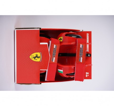 Ferrari Flashing Wheels - Skates and Skateboards for Kids age 6Y+ (Red)