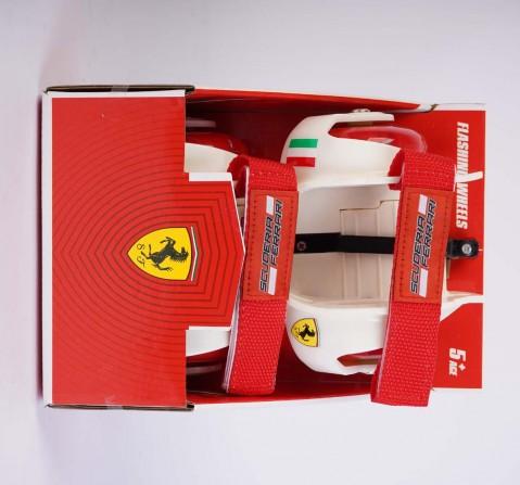 Ferrari Flashing Wheels White Skates for Kids Age 6Y+ (White)